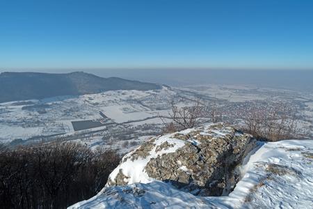 Swabian Jura, Southern Germany, in the winter