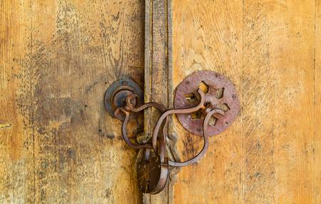 secured door: Old padlock on a wooden door Stock Photo & Secured Door Stock Photos \u0026 Pictures. Royalty Free Secured Door ... Pezcame.Com