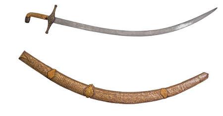 scheide: Sword and scabbard of the ancient on an isolated white background Lizenzfreie Bilder