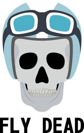 Skull Driver Logo  イラスト・ベクター素材
