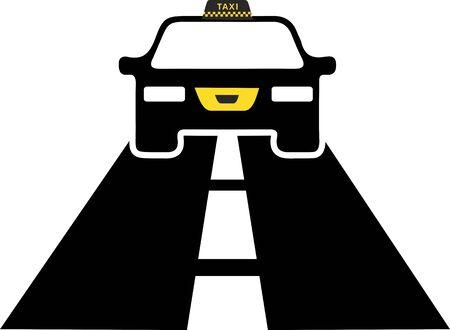 Taxi Driver Logo  イラスト・ベクター素材