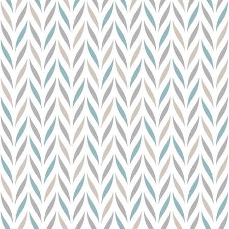 Motif chevron vectorielle continue avec des éléments floraux abstraits dans des couleurs pastel sur fond blanc pour la conception de tissu, textile ou papier peint. Vecteurs
