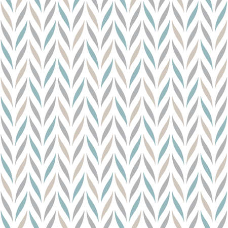 Seamless vector chevron pattern with abstract floral elements in pastel colors on white background for fabric, textile, or wallpaper design. Vektorové ilustrace