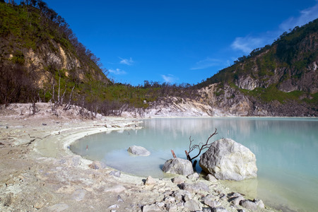 Kawah Putih Crater in Ciwidey West Java, Near Bandung city.
