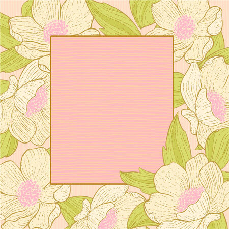 peachy: Delicate floral background