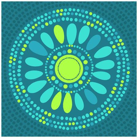 Circle flower Иллюстрация