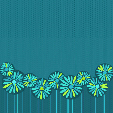 Vector flower back Иллюстрация