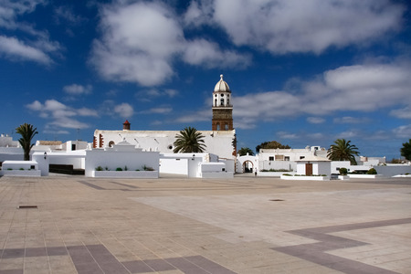 Church and market in Teguise, Lanzarote, Spain