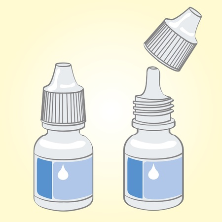 eye drops  Ilustrace