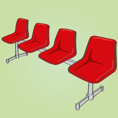 hospital corridor: link chairs  Illustration