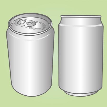 飲料缶  イラスト・ベクター素材