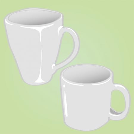 pareja comiendo: taza de cerámica