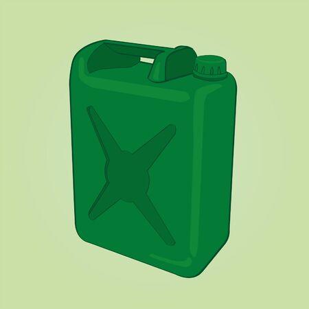 seau d eau: gallon d'huile Illustration