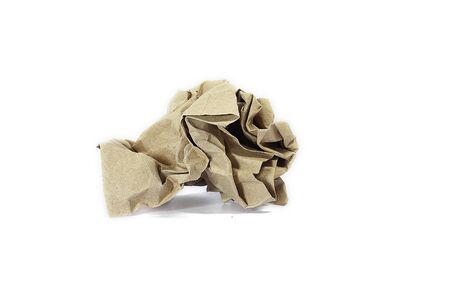 brown crumpled paper  photo