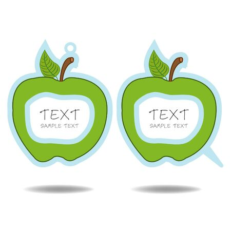 green apple speech bubble and price tag vector  Stock Vector - 16297400