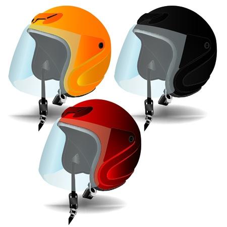 motorcycle helmet vector Stock Vector - 16297398
