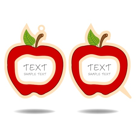 red apple speech bubble and price tag vector Stock Vector - 16297401