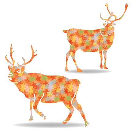 reindeer star   Stock Vector - 16423568