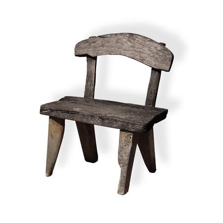 unique wooden chair Stock Photo