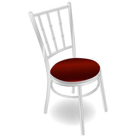 red metal chair  Vectores
