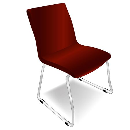 red metal chair  Stock Vector - 16883447