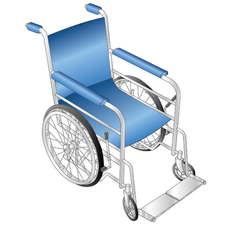 ems: silla de ruedas vector