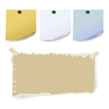 sticky torn  paper Vector