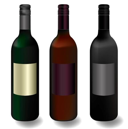 wine bottles vector Vector