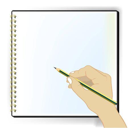 blank sketchbook vector Illustration