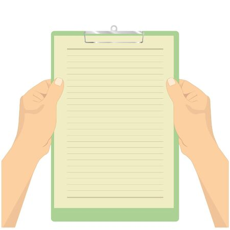hand hold  paper clipboard vector  Vector