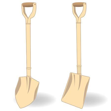 bury: shovel  illustration