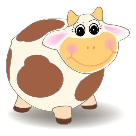 cow vector: cow cartoon vector Illustration
