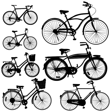 bicyclette: Vecteur de v�los Illustration