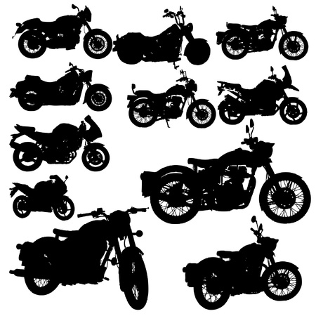 motor transport: motorcycle classic vector