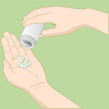 hand with medicine vector 向量圖像