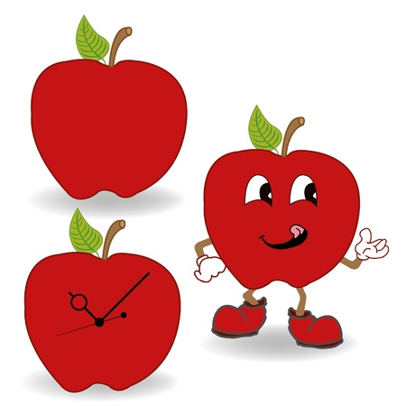 red apple cartoon Stock Vector - 18066149