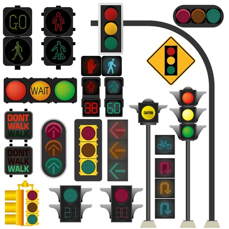 signals: Traffic light vector