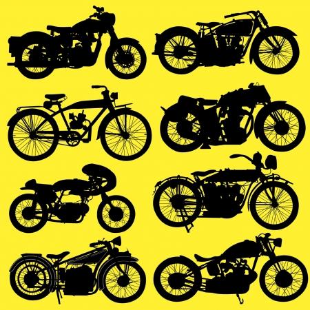 ビンテージ バイク バイク ベクトル