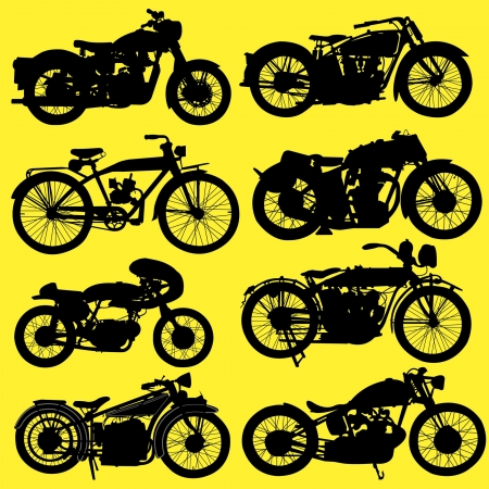 old leather: Vintage Motorcycle motorbike vector