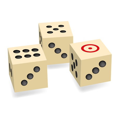 Dice vector Stock Vector - 18567892