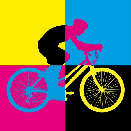 ride bike riding bicycle vector Stock Vector - 18653058