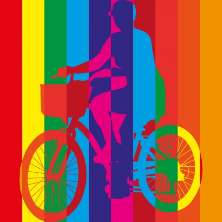 ride bike riding bicycle vector Stock Vector - 18653041