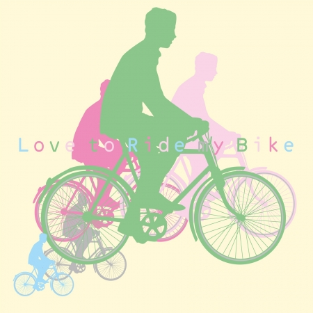 love to ride bike Vector