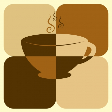 coffee color art Vector