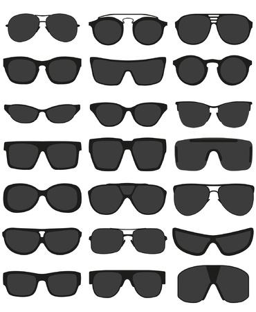 sun protection: Gafas y lentes de sol establecidos Vectores