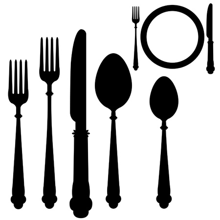 Utensil placement Vector