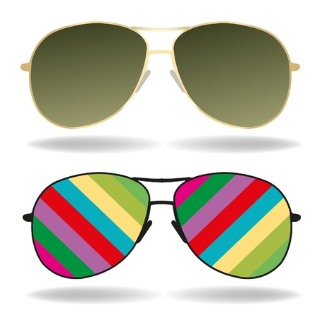 sunglasses color art Stock Vector - 19279776