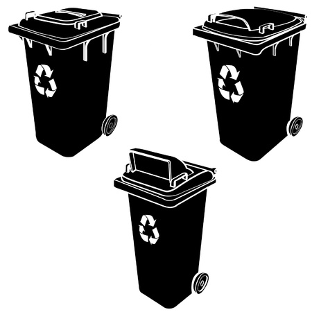 refuse: recycle bin Illustration