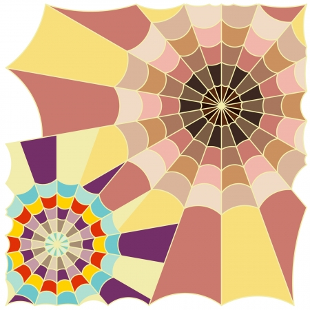 cobweb color art  Stock Vector - 19279811