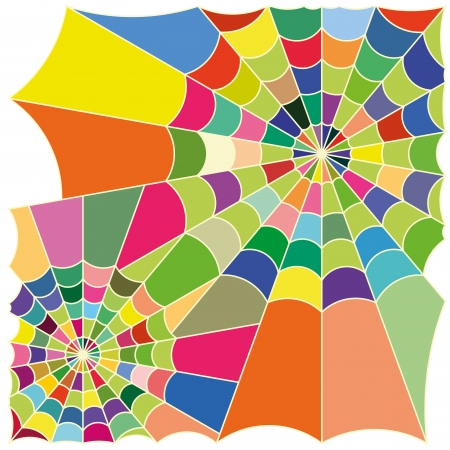 cobweb colorful Stock Vector - 19279812